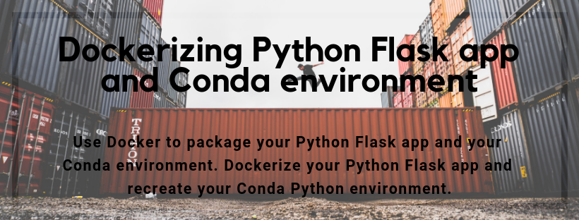 Dockerizing Python Flask app and Conda environment - Easy-Analysis